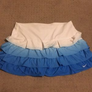Blue Nike dry fit tennis skirt small